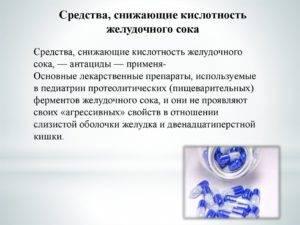 Препараты при пониженной кислотности желудка