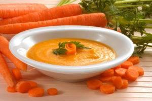 Морковный суп-пюре (при гастритах с пониженной кислотностью)