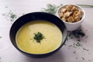 Сырный суп-пюре при гастрите