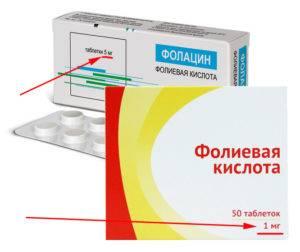 Таблетки фолиевой кислоты)-