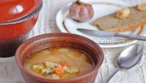 Кабачковый суп с овсяными хлопьями