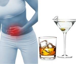 Алкогольная интоксикация при гастрите