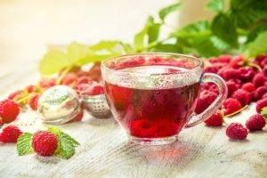 Чай из ягод малины