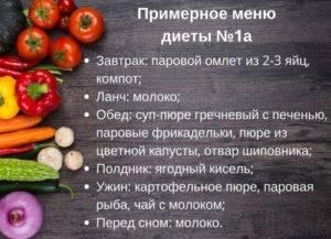 диета №1а