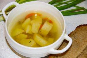 Картофельный суп при гастрите