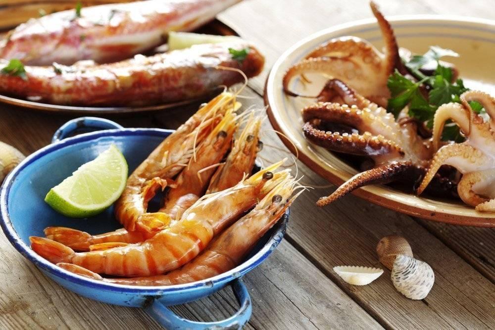 Виды морепродуктов