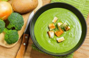 Суп из брокколи при гастрите