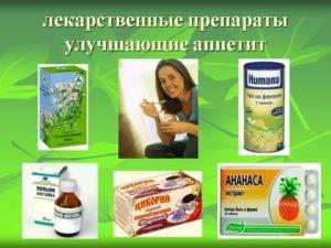 Таблетки для повышения аппетита