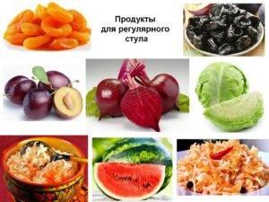 Овощи и фрукты от запора