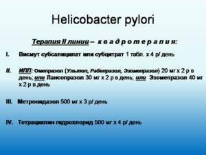 Тетрациклин при хеликобактер