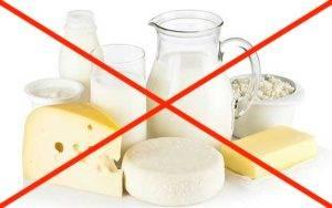 исключения молока из рациона