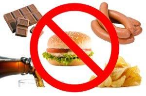 вредная пища запрет