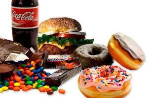 Еда и напитки вредные