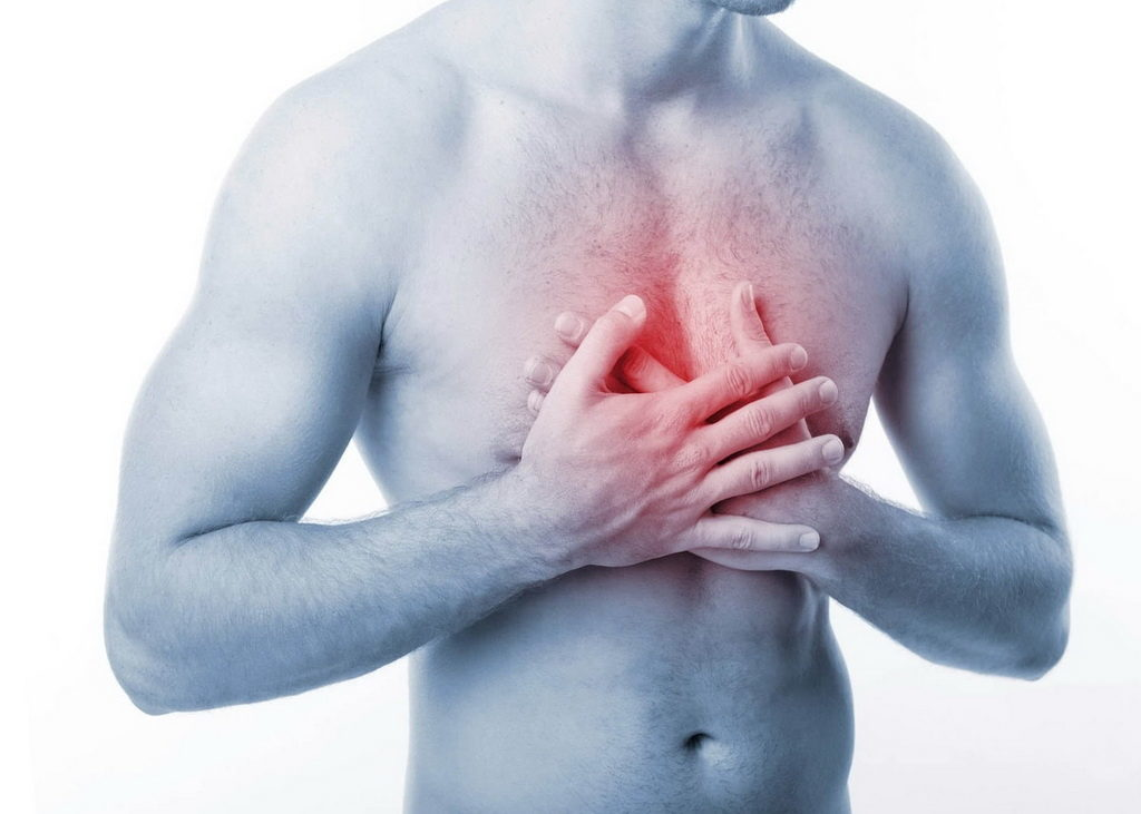 Жгучая боль в груди