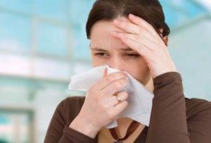 Заложенность носа - причина сухости во рту по утрам